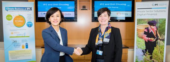 IFC与滴滴出行建立伙伴关系