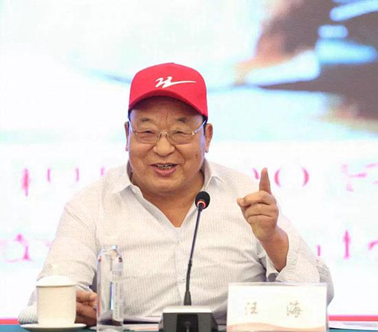 双星名人集团总裁汪海做主题演讲。
